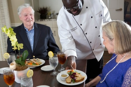 assisted living dining fort worth texas