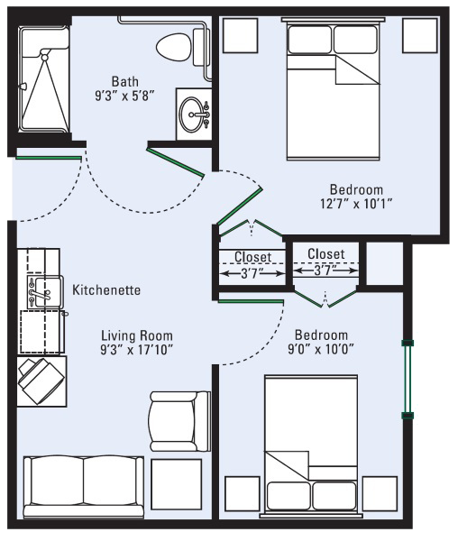 the-gardens-at-eastside-three-room-suite
