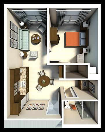 AL - Fairchild One Bedroom_thumb