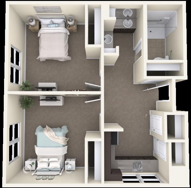 Mountainside-BR&AL-F-Two-Bedroom