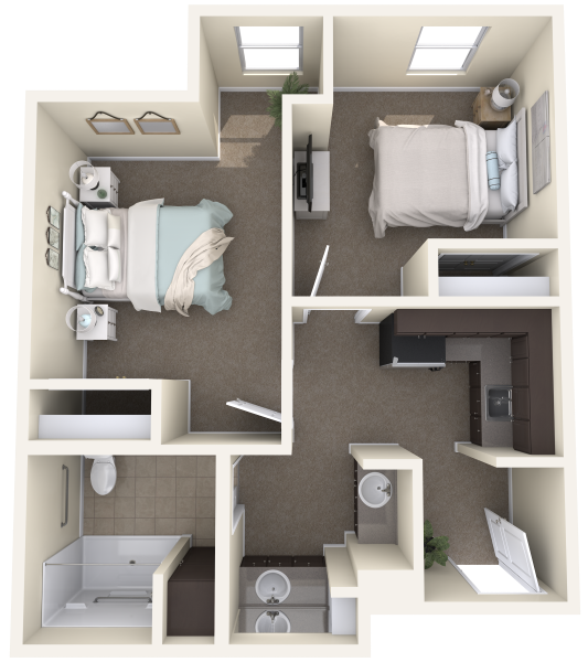 mountainside-MC-D-Two-Bedroom