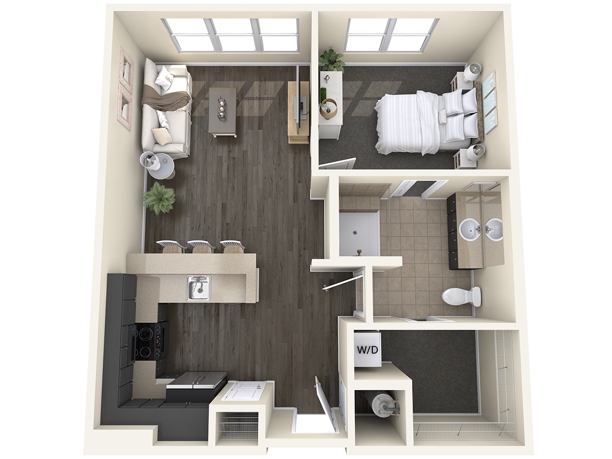 Independent Living Unit A1- One Bedroom - The Madison (1)