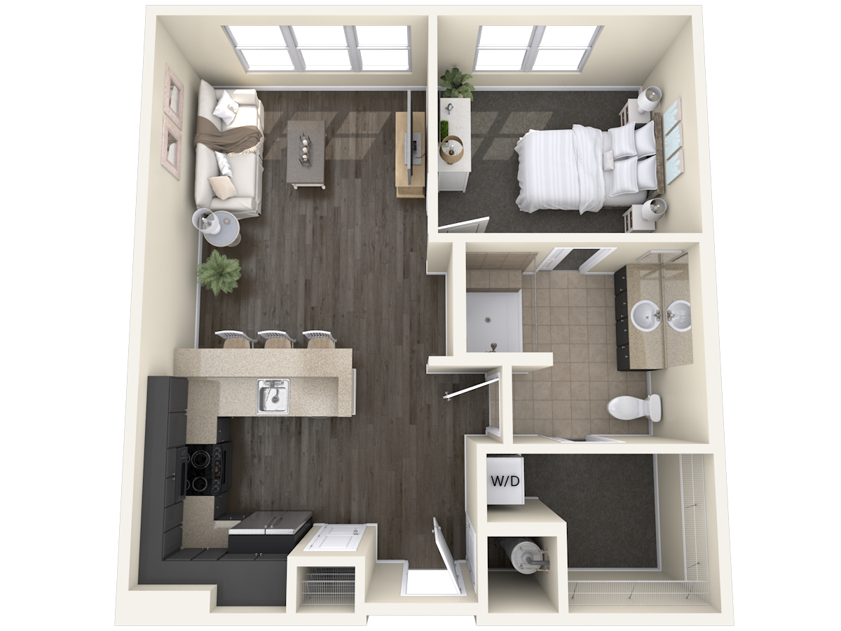 Independent Living Unit A1- One Bedroom - The Madison_P001