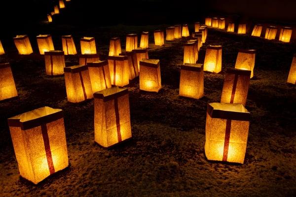November 7   Arbor Terrace Mountainside Luminaria Ceremony