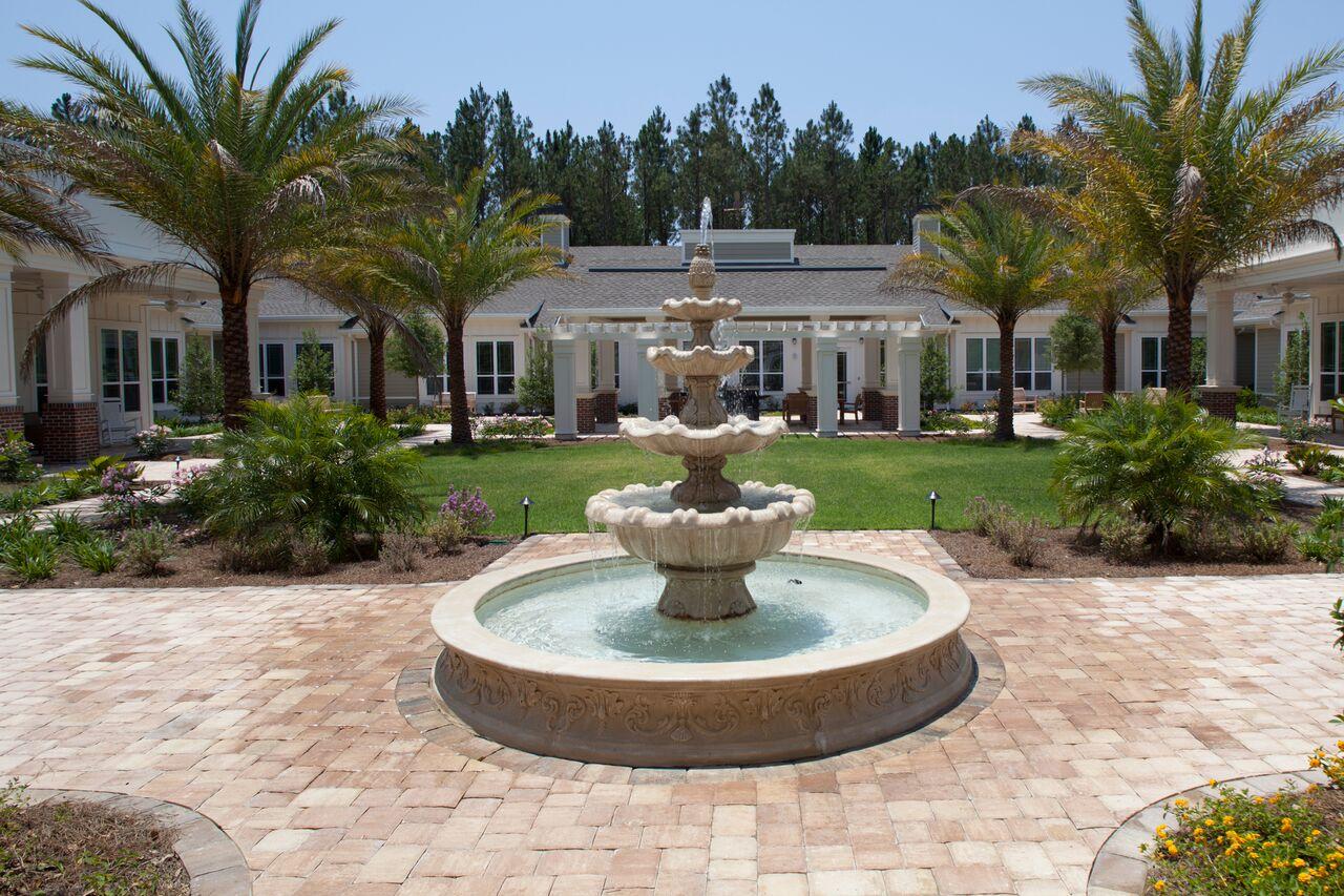 Arbor Terrace of San Jose courtyard fountain