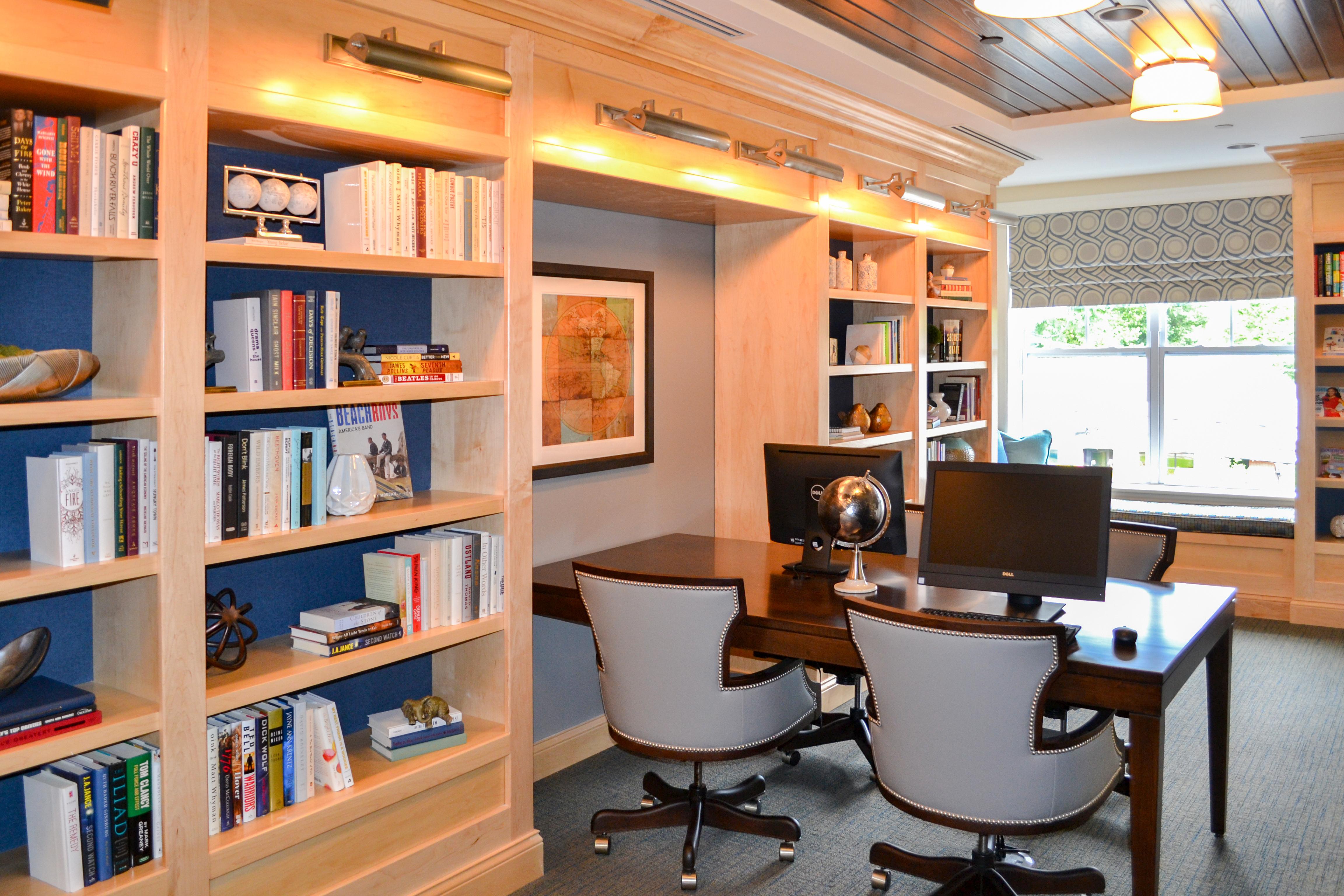book shelf mountainside