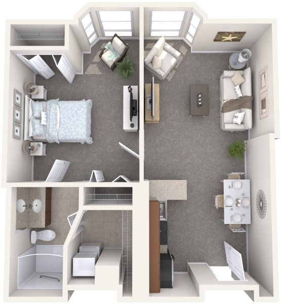 the-summit-of-uptown-park-ridge-independent-living-one-bedroom-deluxe