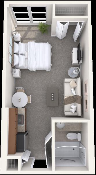 the-summit-of-uptown-park-ridge-independent-living-studio