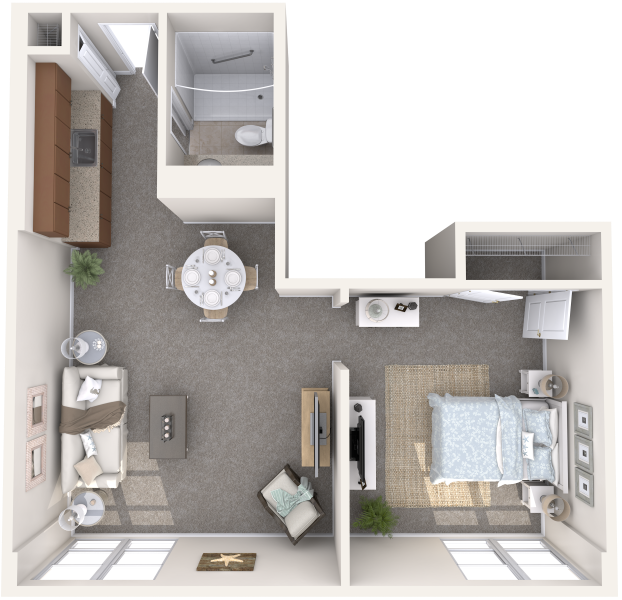 the-summit-of-uptown-park-ridge-memory-care-one-bedroom