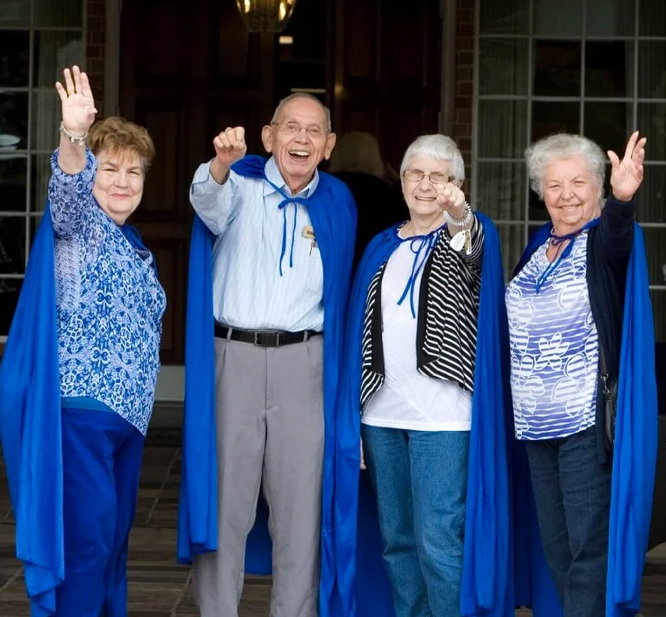 Arbor residents dressed in capes